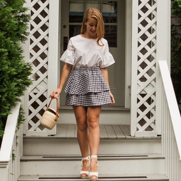 Madewell Dresses & Skirts - Madewell gingham tier mini skirt